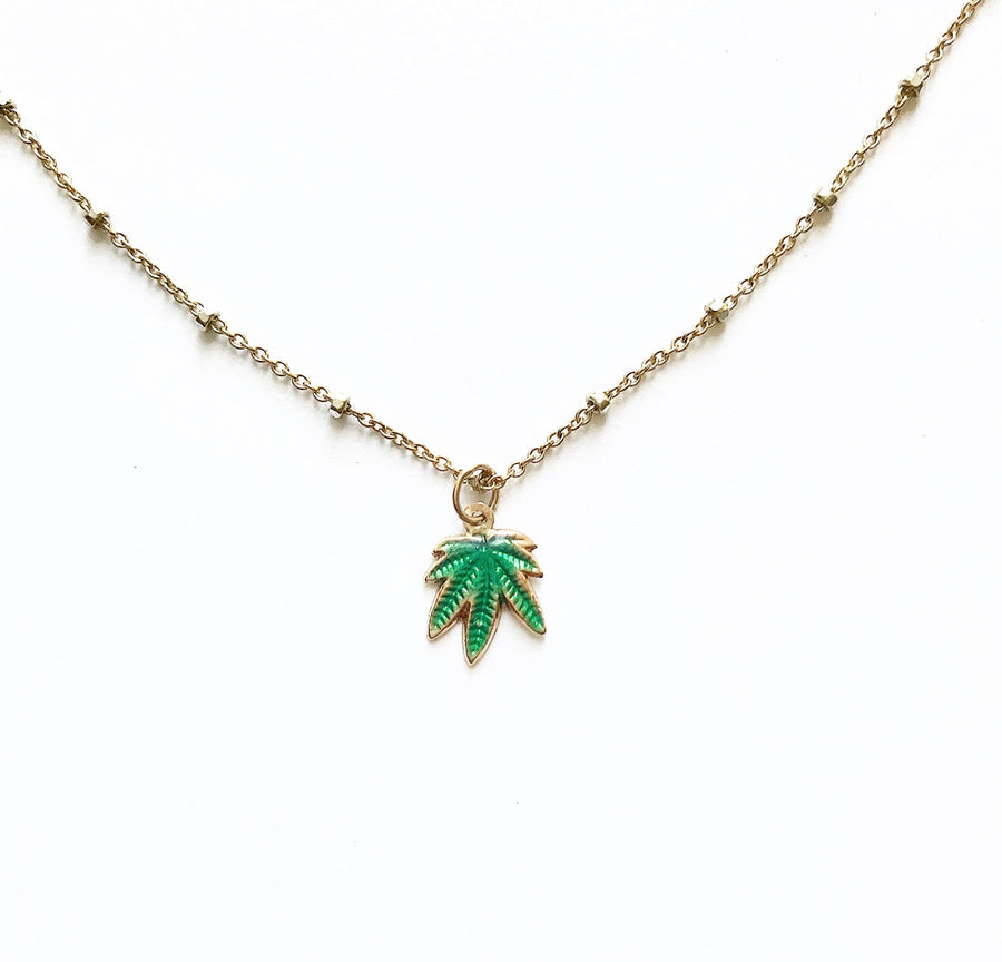 Mary Jane 14K Gold Charm Necklace