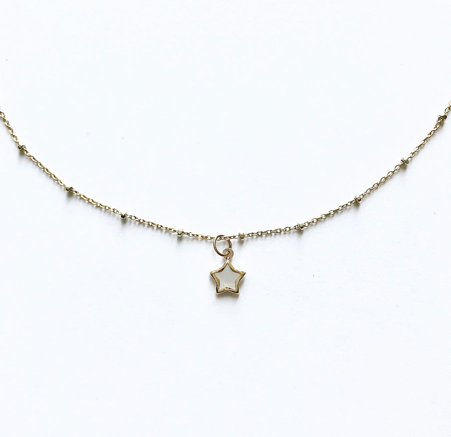 Star 14K Gold Charm Necklace