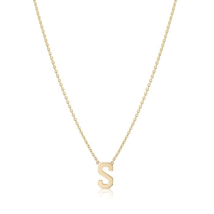 single letter necklace