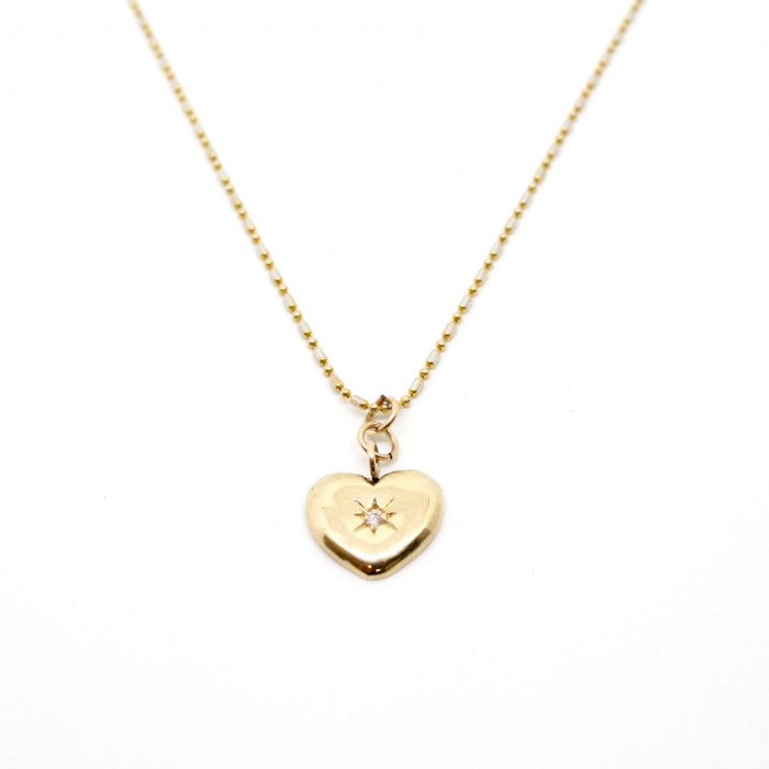 Charlotte Heart Starburts Necklace