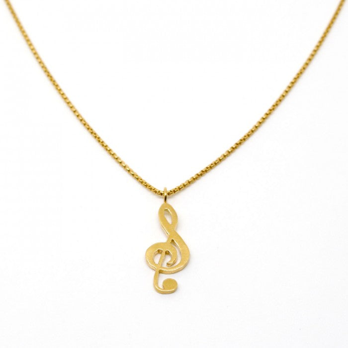 Treble Clef Note Necklace