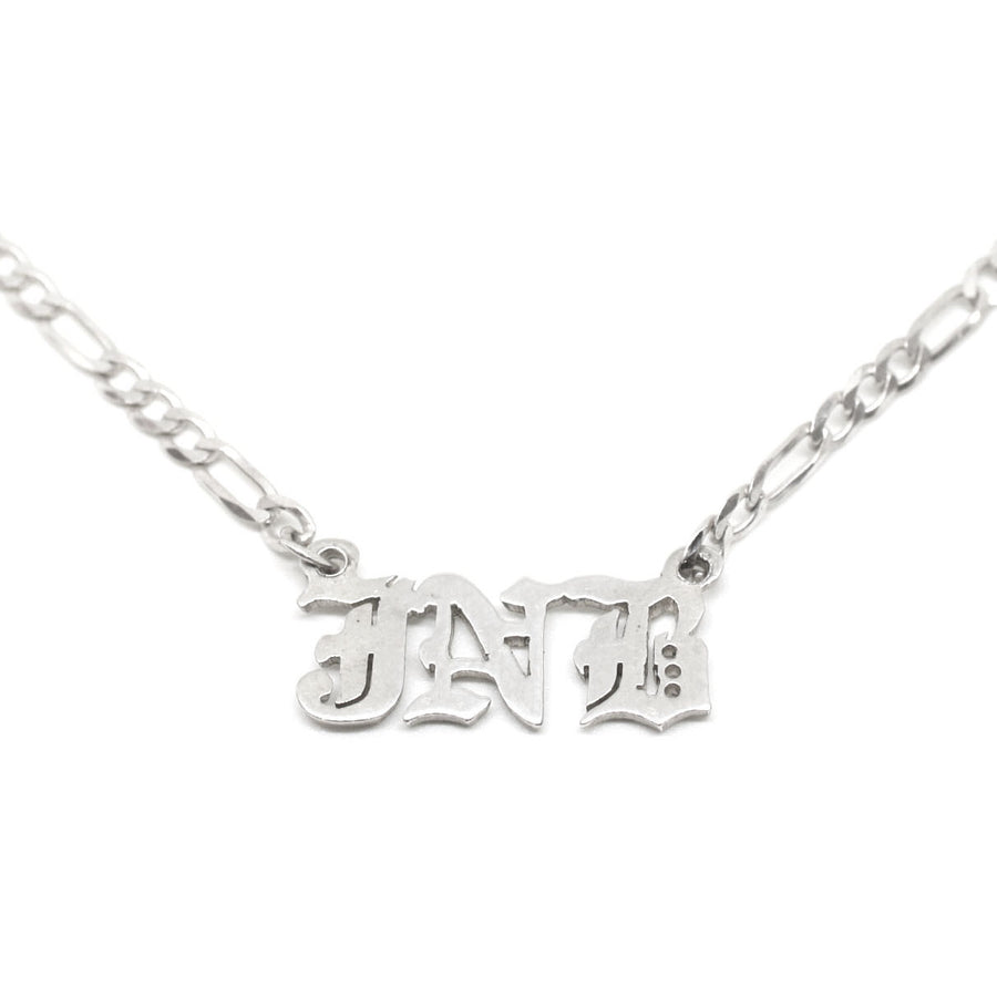Goth Nameplate Necklace