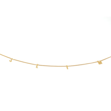 Solid Gold Space Necklace