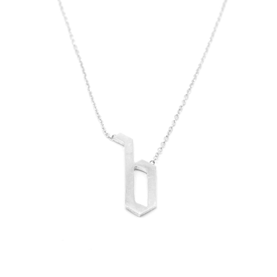 Gothic Font Single Letter Necklace