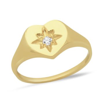 Charlotte Heart Starburst Ring