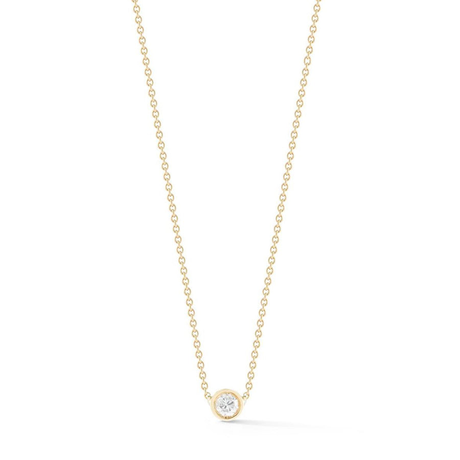 Dainty diamond bezel necklace