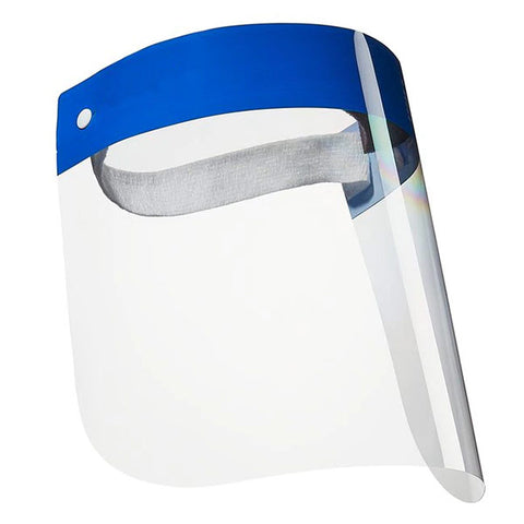 Disposable clear face shield. Ideal for medical usage. CE, FDA and ANSI approved.
