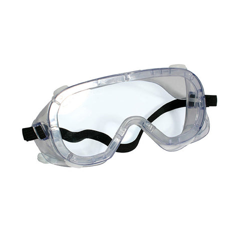 Disposable medical goggles with anti-fog, clear lenses for eye protection. Ideal for hospital, laboratories and clinics usage. CE, FDA and ANSI approved.