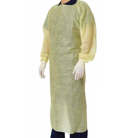 Disposable long sleeves gown. Full back protection, breathable material.
