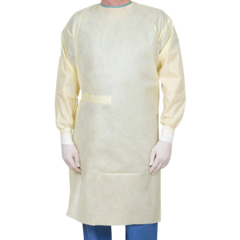 Disposable long sleeves gown. Full back protection, breathable material. FDA approved.