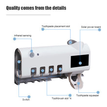 Load image into Gallery viewer, Toothbrush Sanitizer Family Case with UV Light and Toothpaste Dispenser - Solar Powered