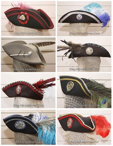 Custom Tricorne Hats from the Brethren of Pirate Fashions!