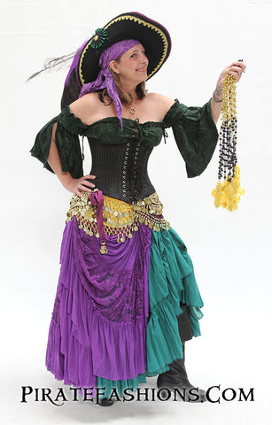 Mardi Gras Lady Pirate