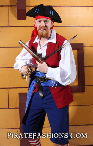 Show yar patriotic spirit with a red white nu0027 blue Pirate Outfit. One of the unsung heroes of the American Revolution be the privateers of the 13 colonies ...  sc 1 st  Pirate Fashions & Patriotic Privateer u2013 Pirate Fashions