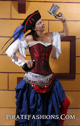 Show yar patriotic spirit with a Red White nu0027 Blue Wench Outfit. We have plenty of products in the red white and blue to fit any Lady Pirate.  sc 1 st  Pirate Fashions & Patriotic Wench u2013 Pirate Fashions