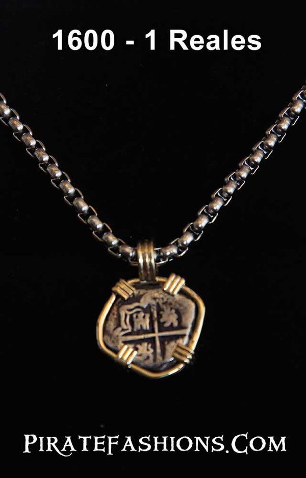 Spanish 1 Reales Silver Coin Necklace
