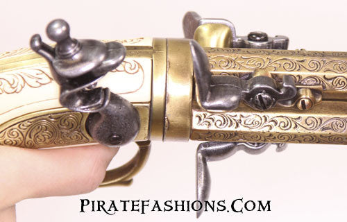 3 Barrel Revolving Flintlock (Non-Firing Replica)