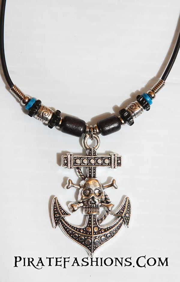 Anchor Skull Necklace