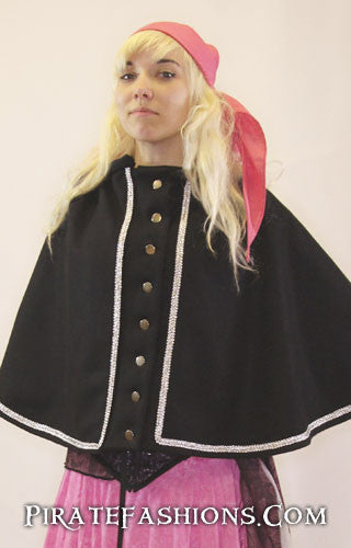 buccaneer cape closed wool side out