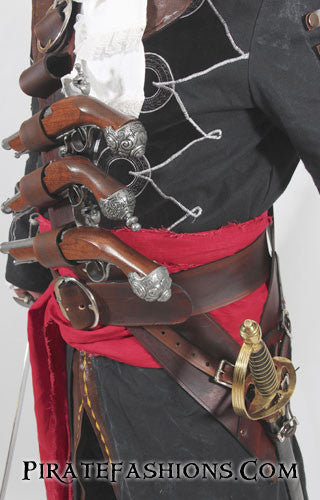 Ac Black Beard Baldric N Belt System Pirate Fashions