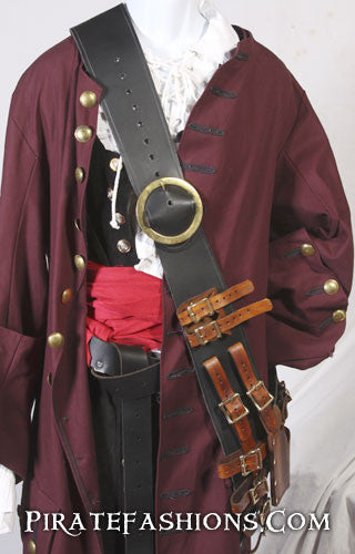 Pirate Leather Shoulder Baldrics Pirate Fashions