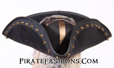 blackbeard pirate hat front view