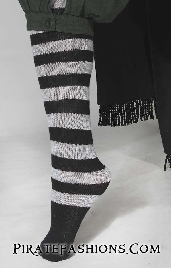 Striped Pirate Knee Socks