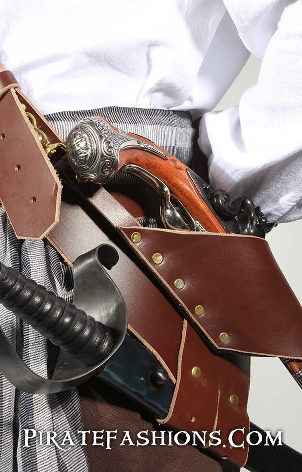 Leather Pirate Baldric Holster