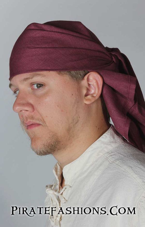 Solid Linen Pirate Bandana