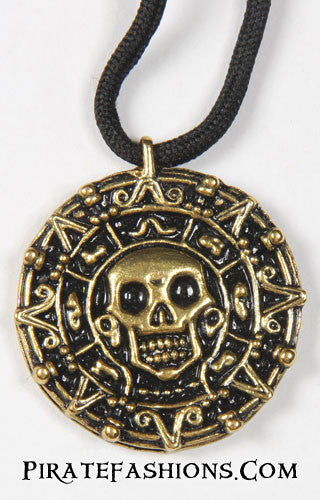 Front View POTC Cursed Coin Pendant