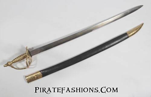 colonial cutlass with scabbard