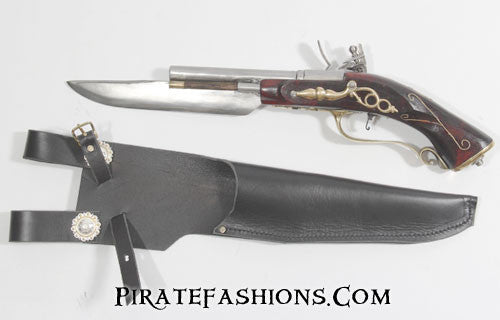 cutlass flintlock pistol reverse view