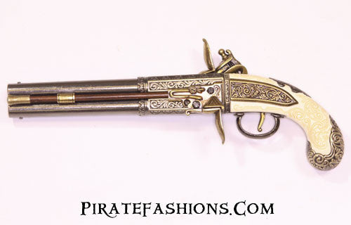 Double Barrel Revolving Flintlock (Non-Firing Replica)