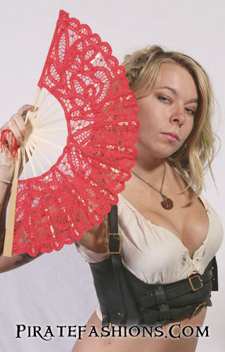 Full Lace Pirate Wench Fan