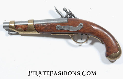 french flintlock pistol reverse view