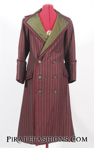 Long Red Frock Coat 4 Pirate Fashions