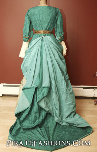 1680's Turquoise Pirate Gown