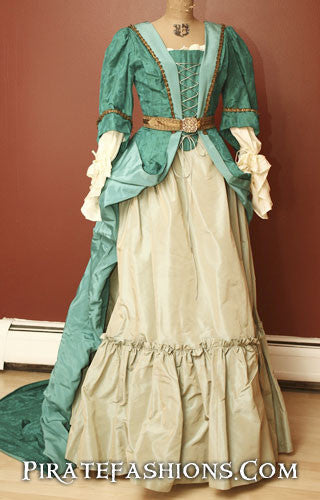 1680's Pirate Silk Gown