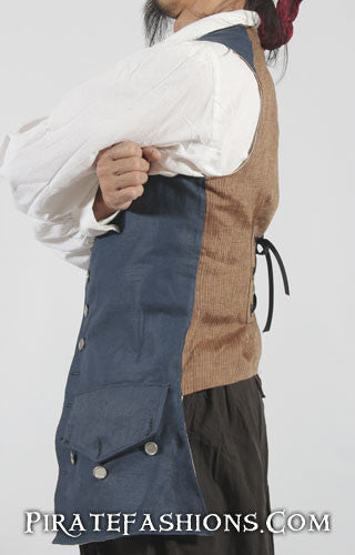 Side View o' the Captain Jack Sparrow Waistcoat