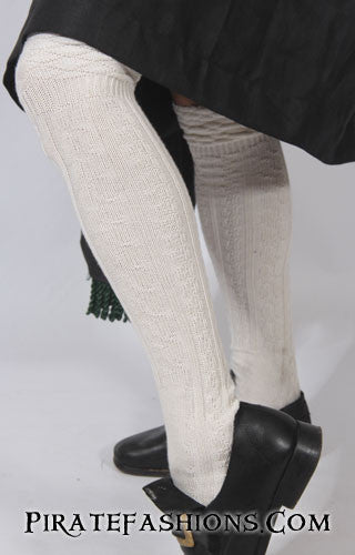 Kilt Socks in Virgin White