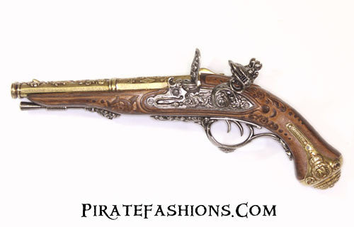 Double Barrel Napoleonic Flintlock Pistol (Non-Firing Replica)