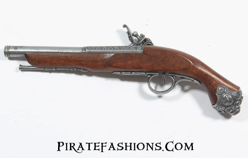 pirate flintlock pistol reverse view