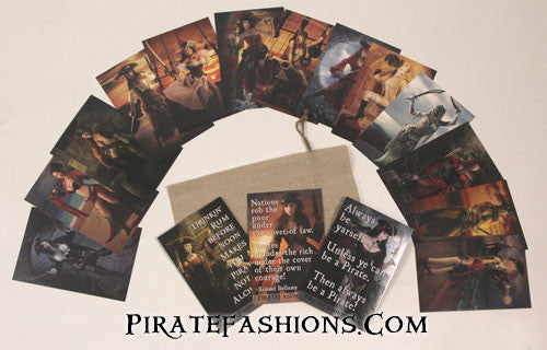 Hot Pirate Babe Postcard Set