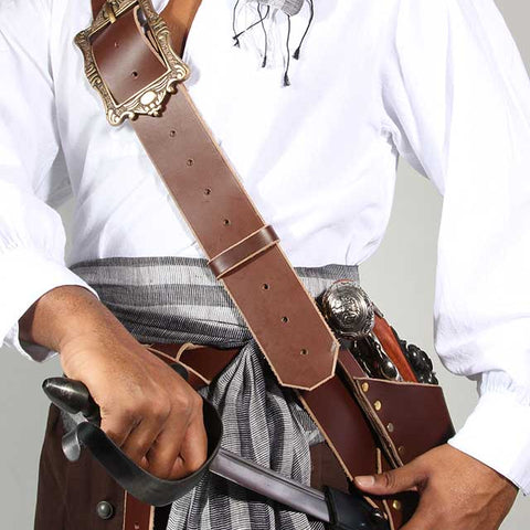 Sea Rover Leather Pirate Baldric
