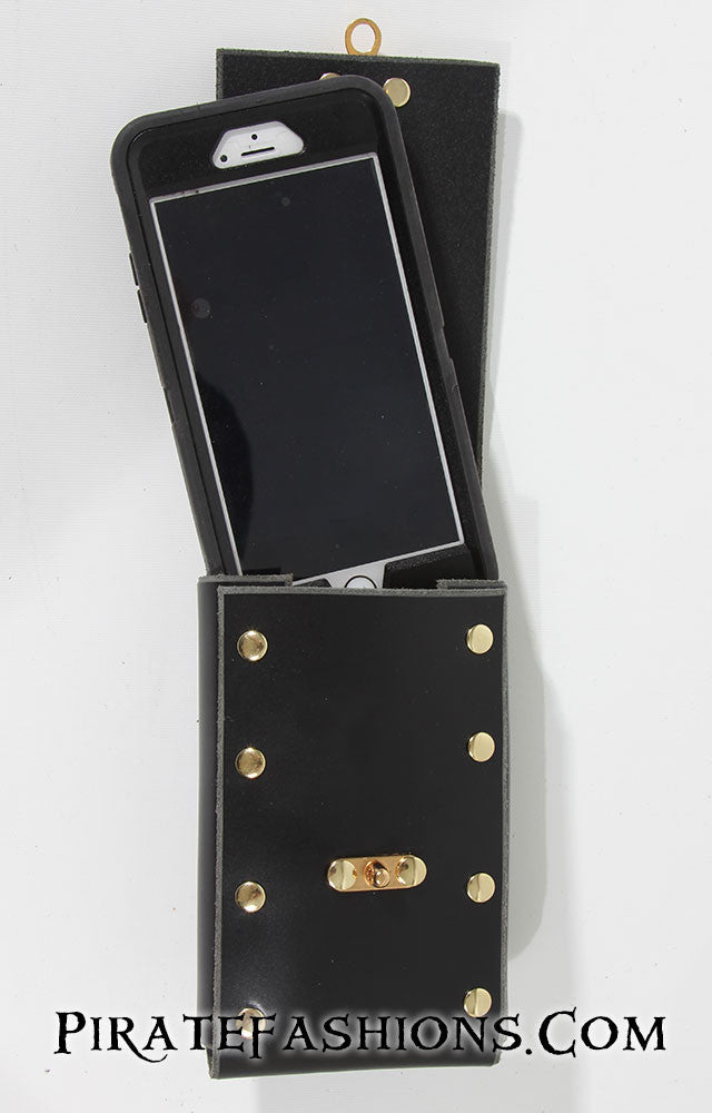 Leather Shell Phone Pouch