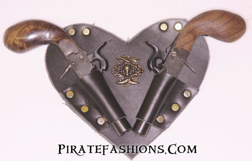 Tiny Percussion Pistol Heart Holster