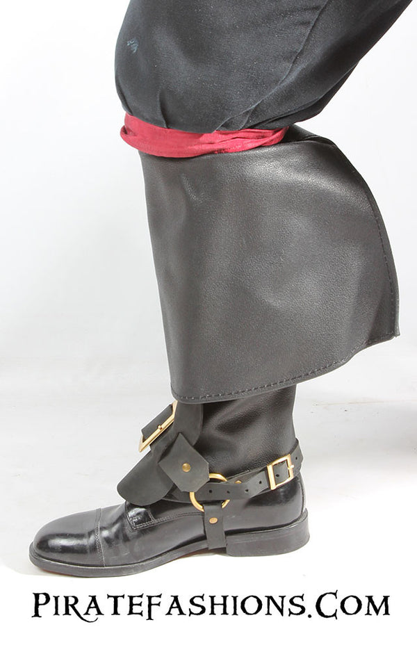 Leather Pirate Boot Toppers