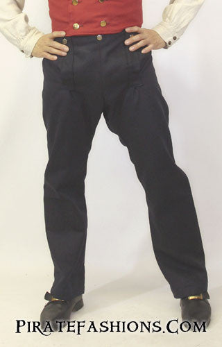 drop front trousers navy