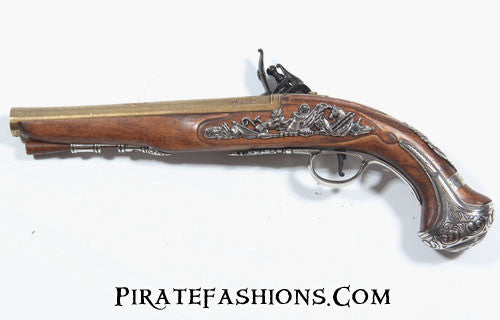 george washington flintlock pistol reverse view