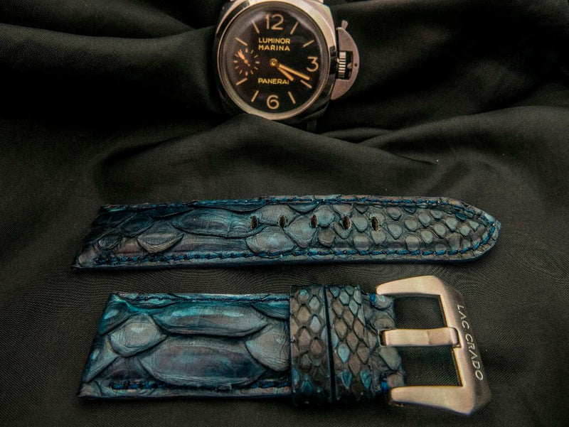 PYTHON LEATHER STRAP - THE SEA